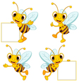 Bee cartoon collection vector