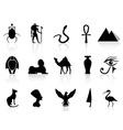 Egyptian icon set vector