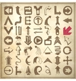 49 hand draw sketch arrow element collection icons vector