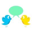 Two birds tweeting vector