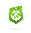Protection shiled and eco concept save our world vector