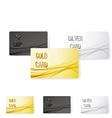 Smooth swoosh wave line premium membership card vector