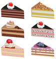 Cake slices vector