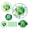 Nature stamps vector