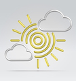 Weather partly sunny vector