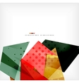 Geometric shape abstract futuristic background vector