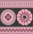 Style scroll background pattern vector