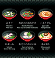 Japanese soup vector