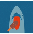 Shark eating ice cream vector