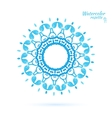 Laced snowflake vector