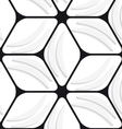 White banana shapes and black hexagon net seamless vector
