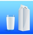 Four glasses of milk vector