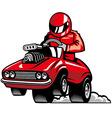 Muscle car racing vector