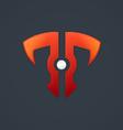 Letter t technolgy shield business logo vector