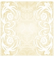 Delicate lace wedding invitation vector