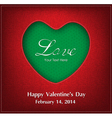 Valentine day card background vector