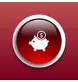 Piggy icon bank economy coin money piggy account vector