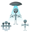 Alien icons vector