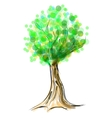 Tree cartoon icon isolated on white vector