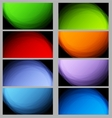 Collection of ray business cards with light vector
