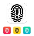 Attention sign on fingerprint icon vector