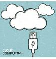 Cloud connect concept vector