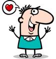 Man in love cartoon vector