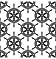 Seamless pattern of antique ships wheel vector