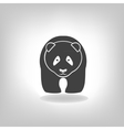 Panda grey label - vector