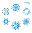 Set of laced snowflakes vector