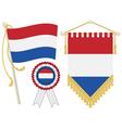Netherlands flags vector