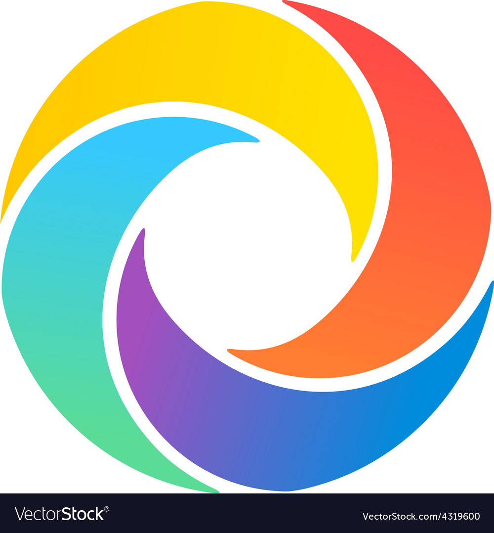 Abstract colorful summer logo vector | Price: 1 Credit (USD $1)