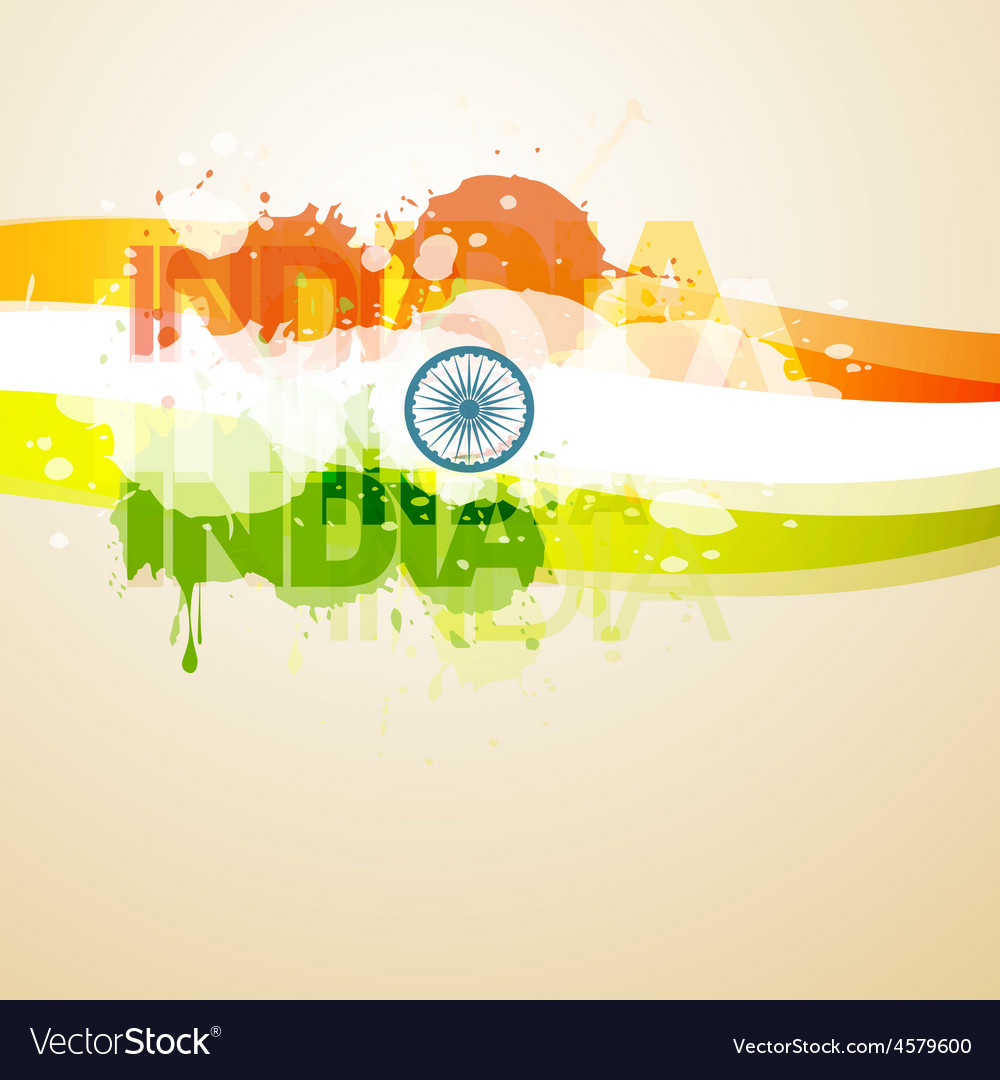 Abstract style indian flag vector | Price: 1 Credit (USD $1)