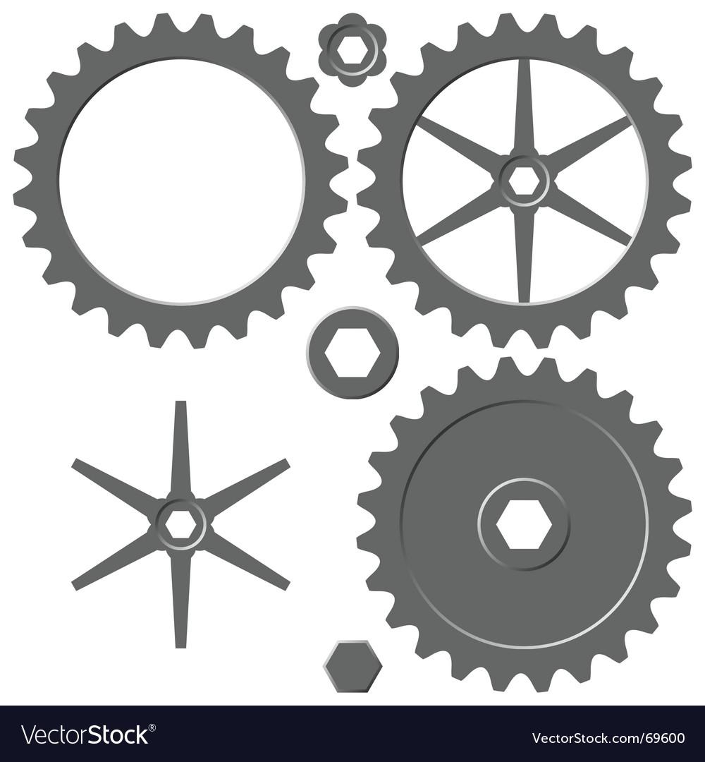 Cogwheel elements vector | Price: 1 Credit (USD $1)