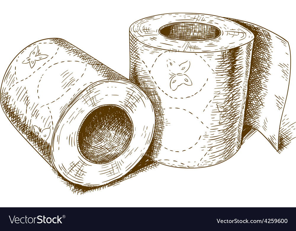 Engraving toilet paper vector | Price: 1 Credit (USD $1)