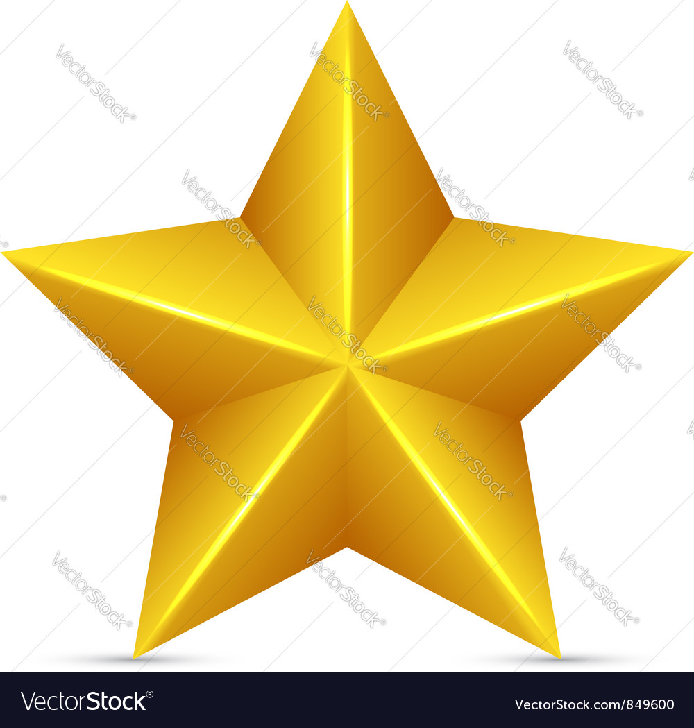 Glossy yellow star vector | Price: 1 Credit (USD $1)