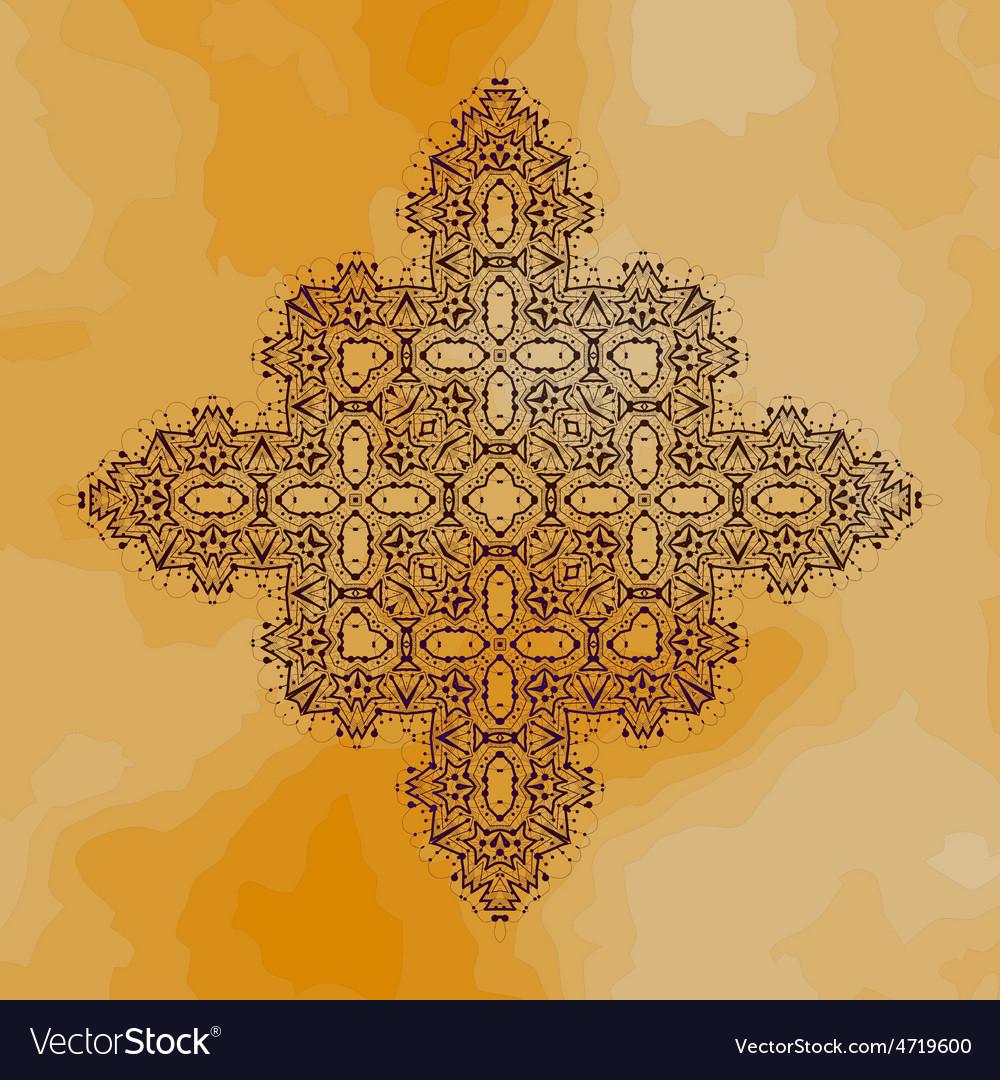 Oriental ornamental motif vintage hand drawn vector | Price: 1 Credit (USD $1)