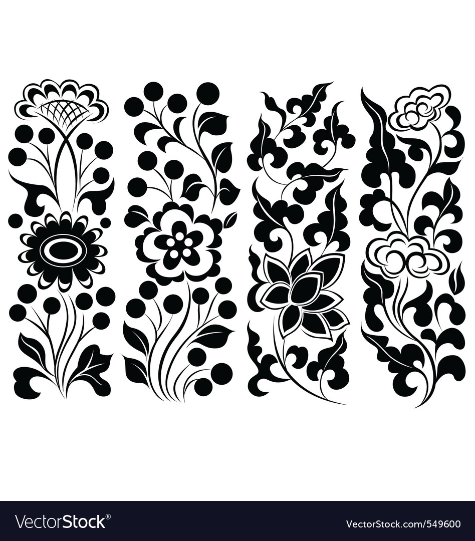 Scroll flower vector | Price: 1 Credit (USD $1)