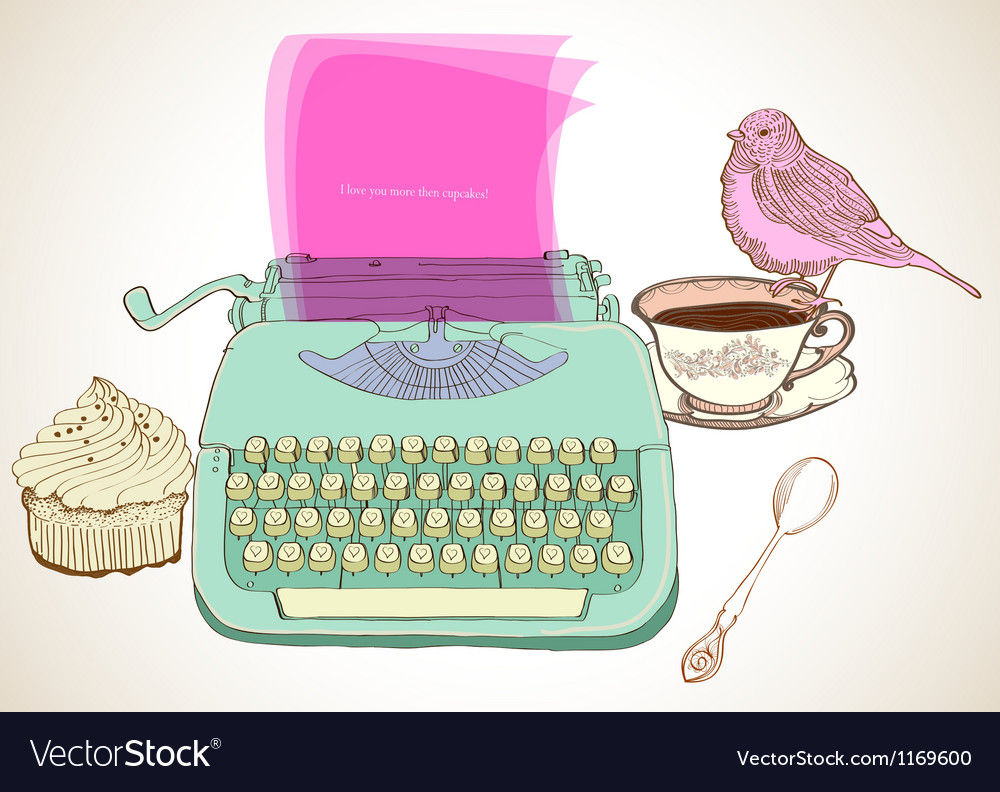 Typewriter vector   Price: 1 Credit (USD $1)
