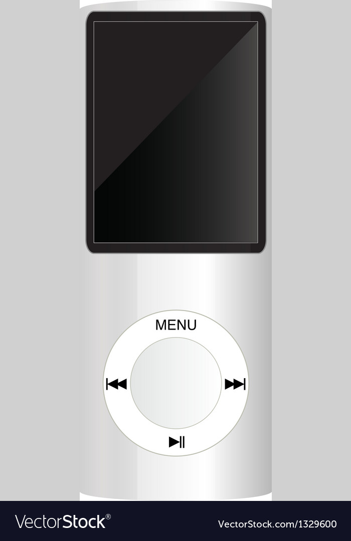White mp3 player vector | Price: 1 Credit (USD $1)