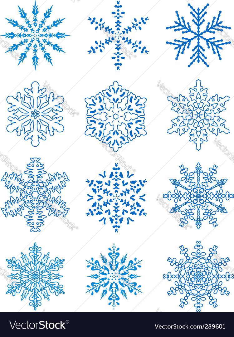12 snowflakes vector   Price: 1 Credit (USD $1)