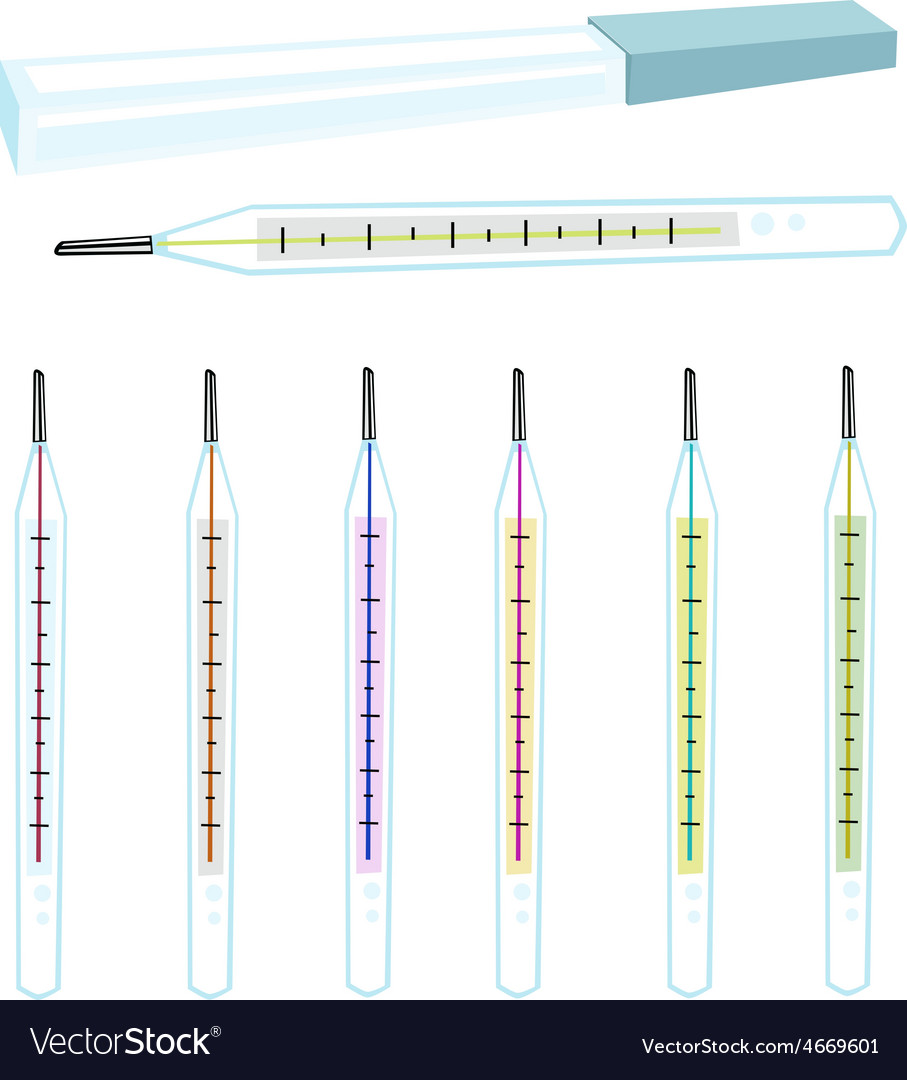 A collection of clinical thermometer vector | Price: 1 Credit (USD $1)