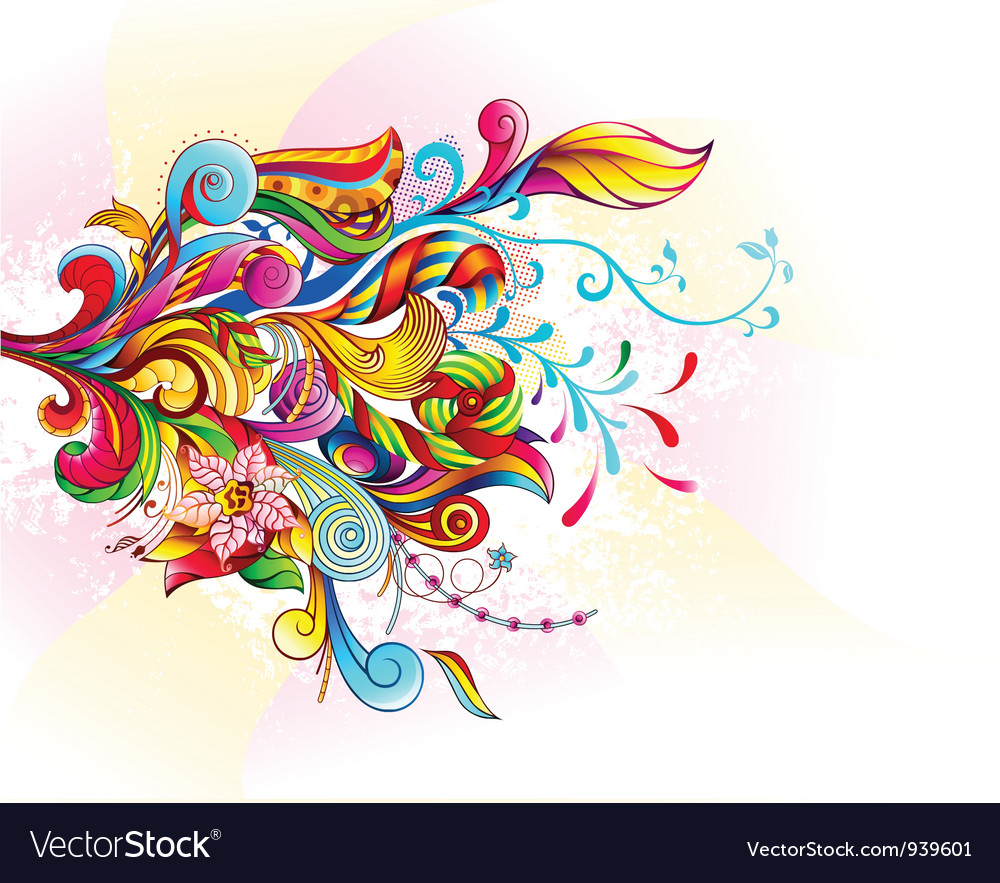 Abstract bouquet vector | Price: 3 Credit (USD $3)