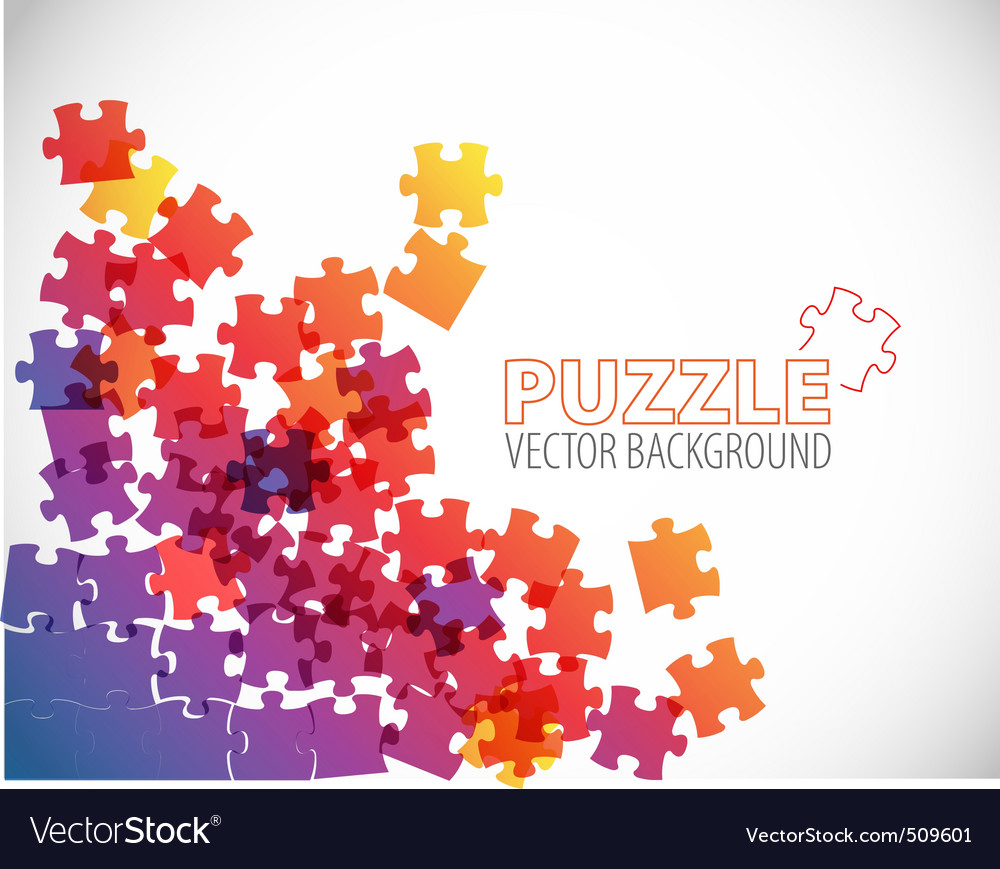 Abstract puzzle background vector | Price: 1 Credit (USD $1)