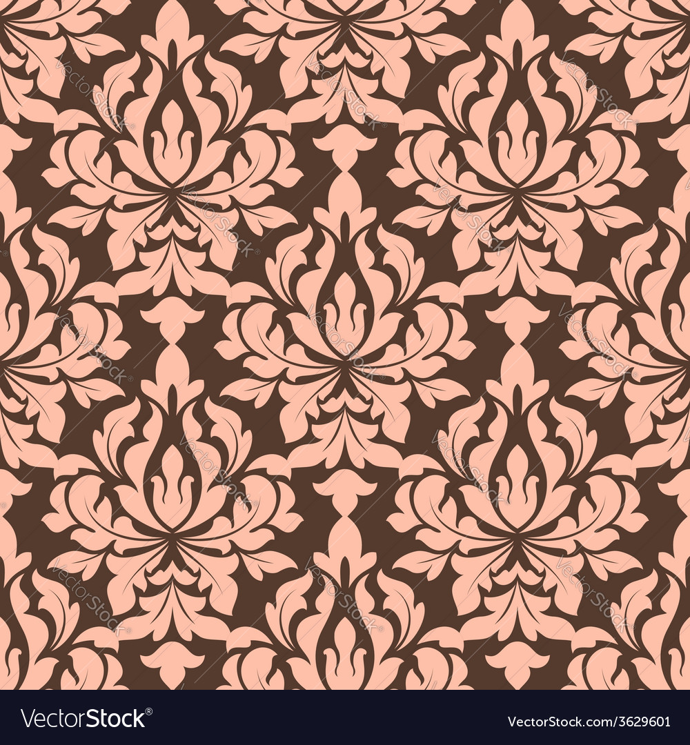 Beige and brown seamless floral pattern vector | Price: 1 Credit (USD $1)