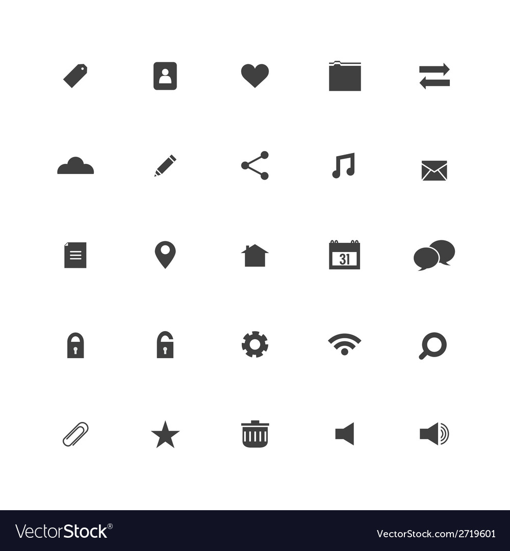 Black website icons set vector | Price: 1 Credit (USD $1)