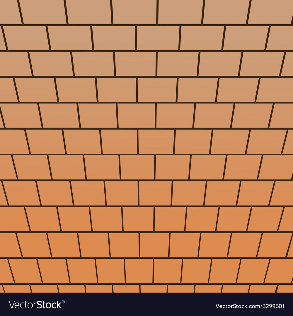 Brick wall top-down view perspective vector | Price: 1 Credit (USD $1)