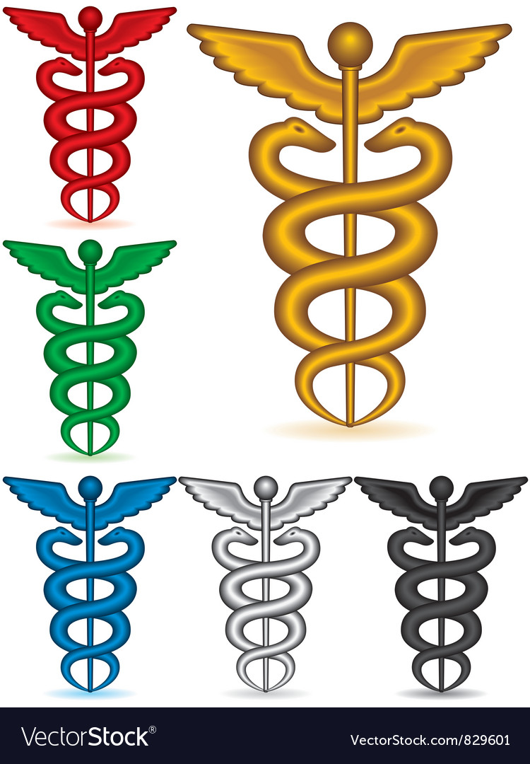Caduceus collection vector | Price: 1 Credit (USD $1)
