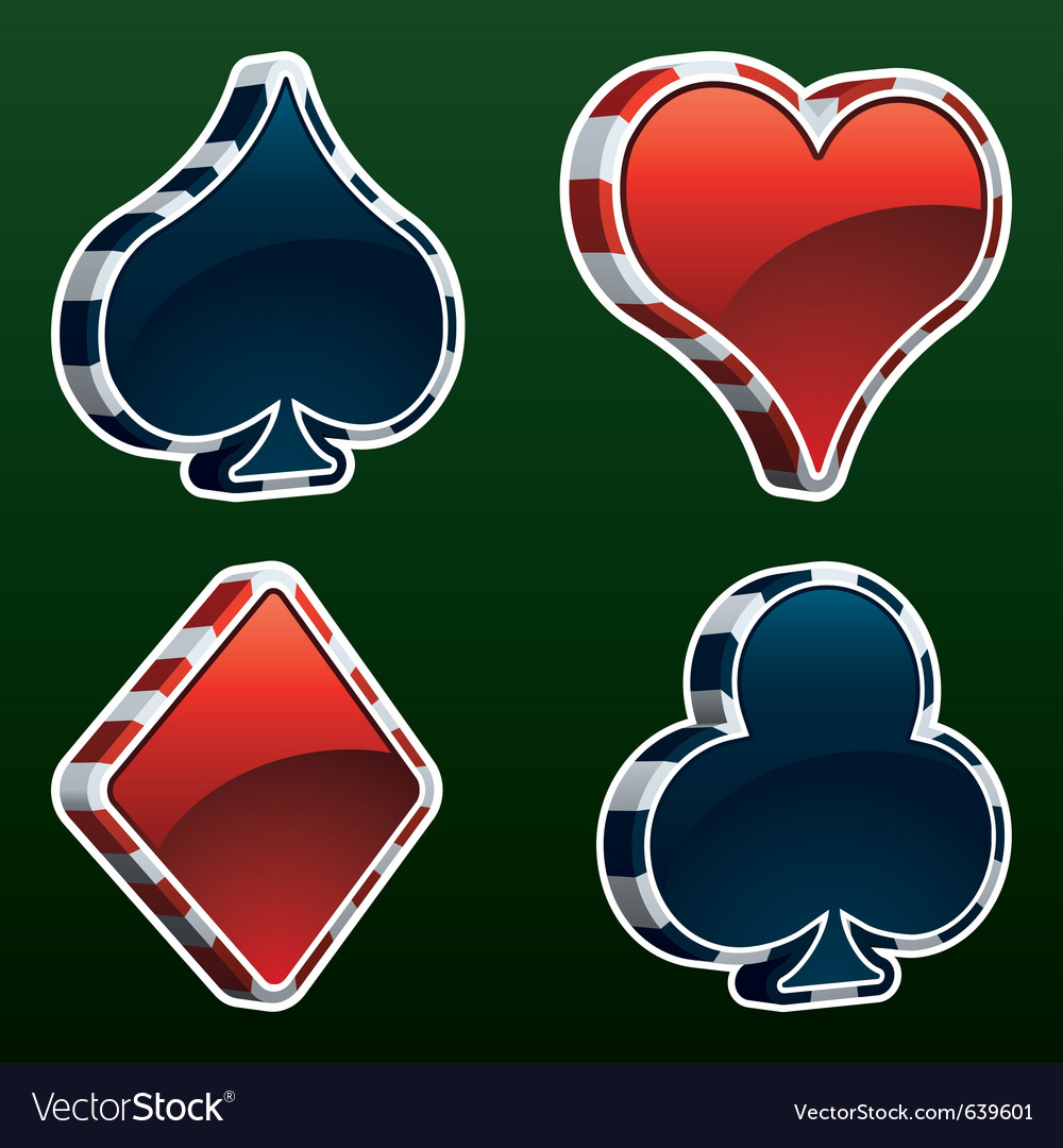 Card suit icons vector | Price: 1 Credit (USD $1)