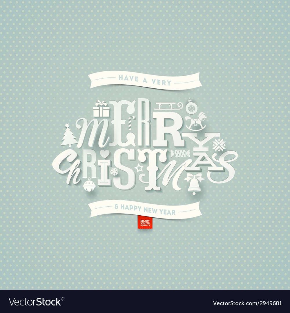 Christmas type design vector | Price: 1 Credit (USD $1)